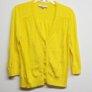 Yellow Loft Light Cardigan Sweater
